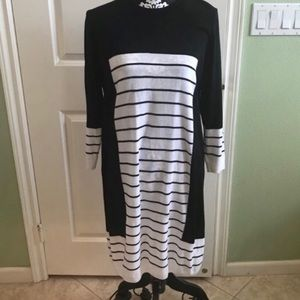 ASOS striped long sleeve dress